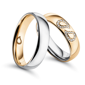 Wedding ring, Bicolour – Lacrima